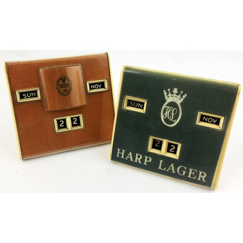 3 - GUINNESS & HARP PERPETUAL CALENDARS. 4.5 x 4.2ins. Period and simple designs in subtle colours - the...