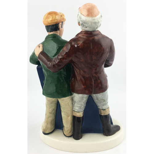 33 - WORTHINGTON E BESWICK FIGURE GROUP. 9ins tall. Mlticoloured couple of drinkers sorting out the world...