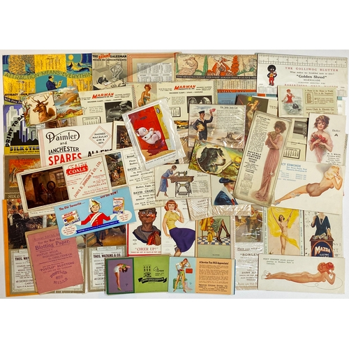 36 - ADVERTISING BLOTTERS. A highly varied grouping - most have a risque nature to them - thro' to Shre...