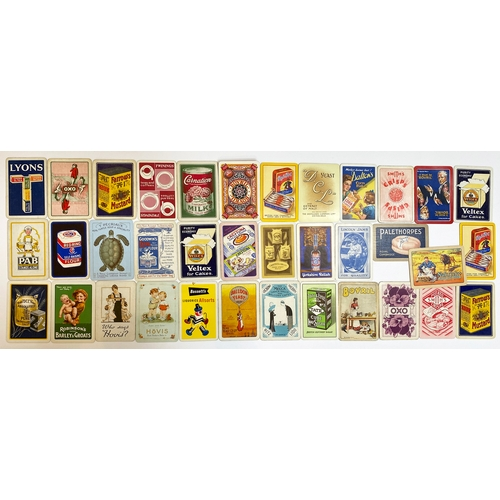 47 - FOOD RELATED ADVERTISING PLAYING CARDS. Lyons Tea to Farrows Mustard, Bovril, Oxo, Hovis etc. Good m...