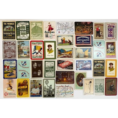 48 - ADVERTISING PLAYING CARDS GROUP. A highly varied singles group - Gramophone, Radio & Television to M...