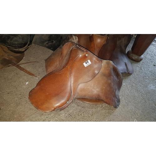 28 - A Leather Saddle....