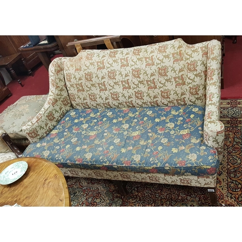 18 - A 19th Century Mahogany two seater Couch in the Georgian style. 145cm long....