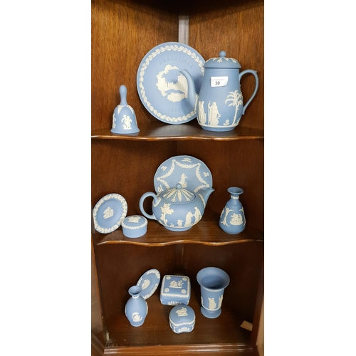 30 - A really good quantity of Wedgewood Jasper Ware items of good age....