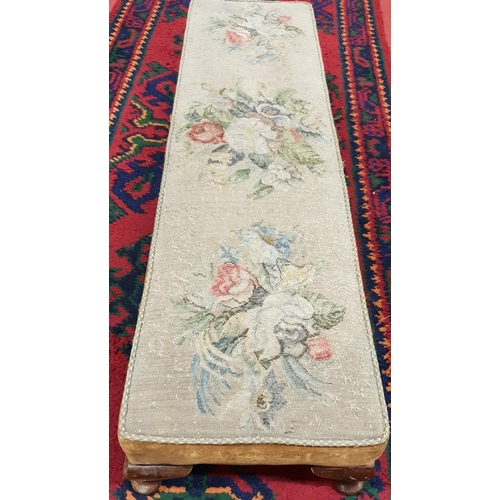 40 - An early 20th Century Duet Footstool with original tapestry....