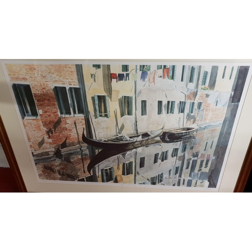 42 - A signed Limited Edition coloured Print of Venice reflected....
