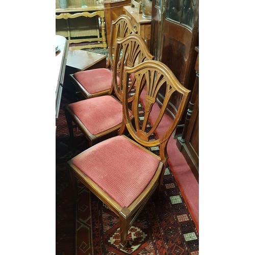 42 - A set of eight Hepplewhite style Dining Chairs....