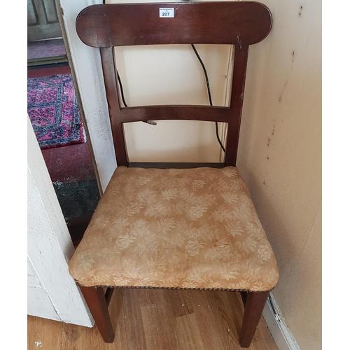 45 - Two Regency Mahogany Chairs....