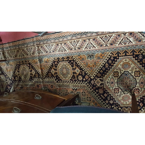 40 - A 19th Century multi patterned Rug. 292 x 160cm....