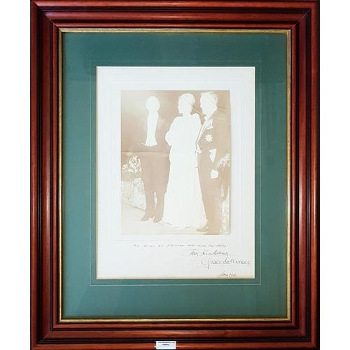3 - An Original Photograph of Princess Grace of Monaco. Signed with inscription for Mr & Mrs O'Sullivan....