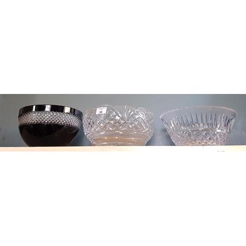 30 - Three Waterford Crystal Bowls....