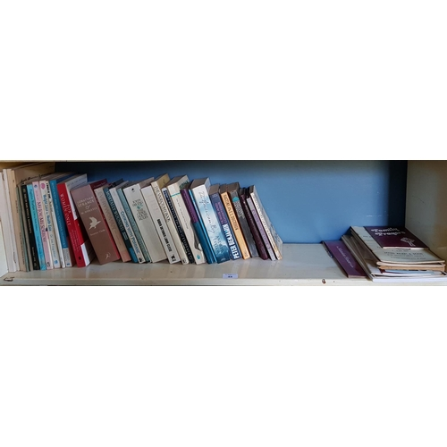 44 - A quantity of Volumes, some Irish, to include old auction catalogues etc. in one shelf....