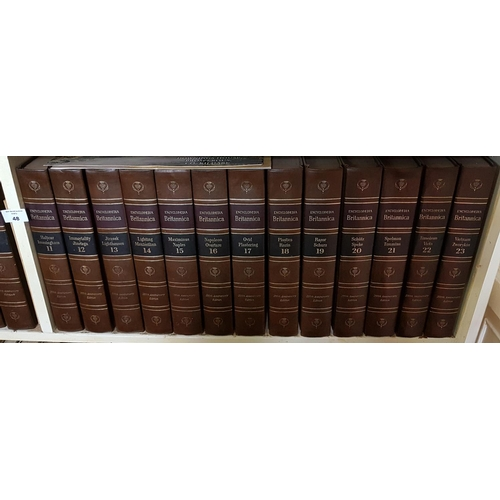 48 - Two shelves of Books to include Encyclopedia Britannica....