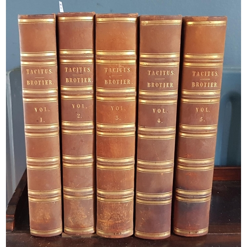 53 - C Cornelii Taciti Opera 1812 in five Volumes....
