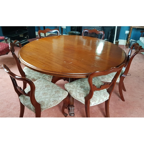 57 - A superb William 1Vth Mahogany circular Dining Table with moulded outline and splayed leg base. 150c...