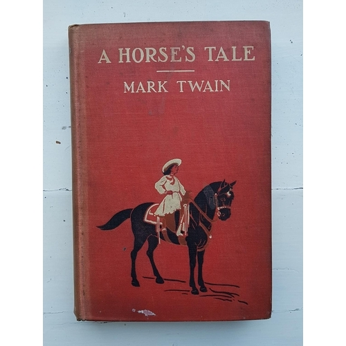 38 - 'A Horses Tail' by Mark Twain 1907, 'Banshee Castle, Land, Lust and Gunsmoke' along with other volum...