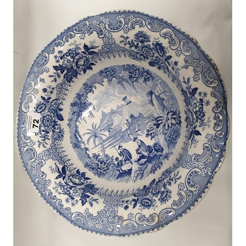 72 - A good 19th Century Blue and White Wash Bowl....