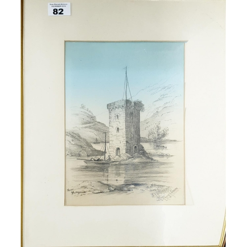82 - A Pencil and Watercolour of St Marys, Kingstown by M Morgan....