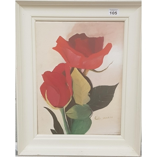 105 - An Artist proof Oil on Canvas of Tulips by Eiles Walsh....