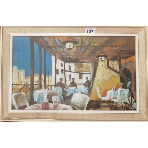 107 - Two 20th Century Oils on Board of Baghdad scenes....