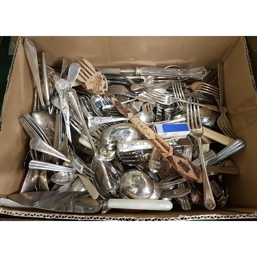 126 - A large quantity of Flatware in a box....