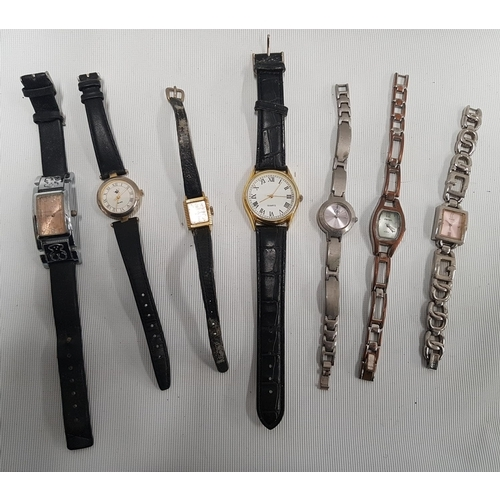 136 - A Fleurier ladies Wristwatch along with six other watches....