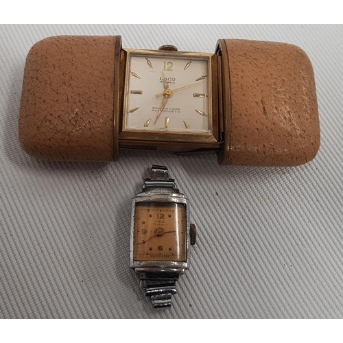 138 - A 1950's Laco 17 Jewel Ladies Purse Watch along with an I.D.C. 15 jewels watch....