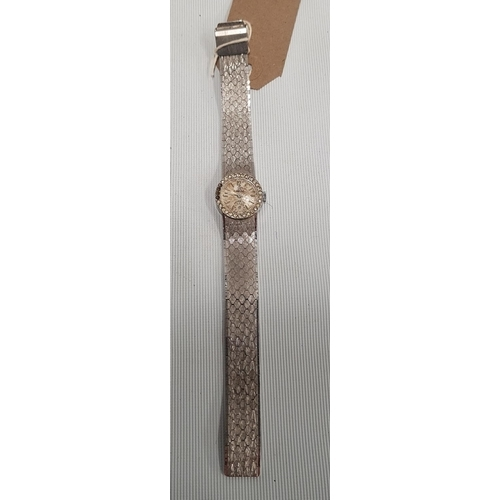 153 - A Ladies Wristwatch stamped Omega 18ct Gold antimagnetic, Swiss made, with strap....