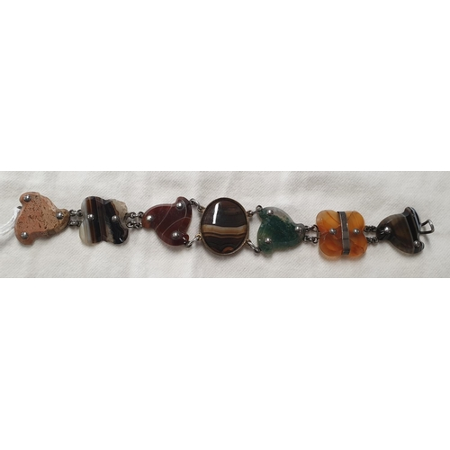 153d - A good Scottish Agate Bracelet....