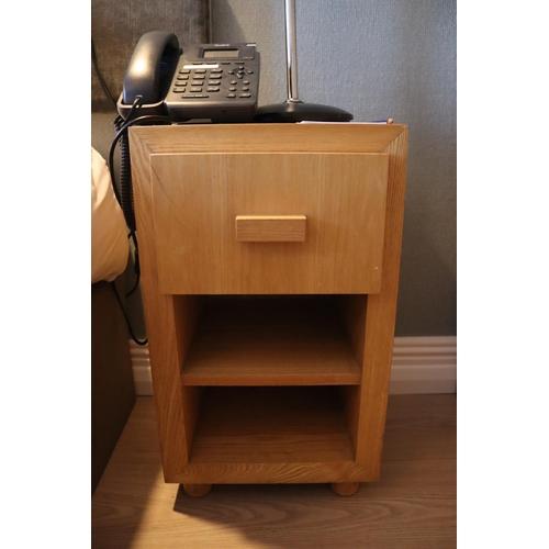 17 - Oak bedside Table/ Locker with drawer 350w x 370d c 600h....