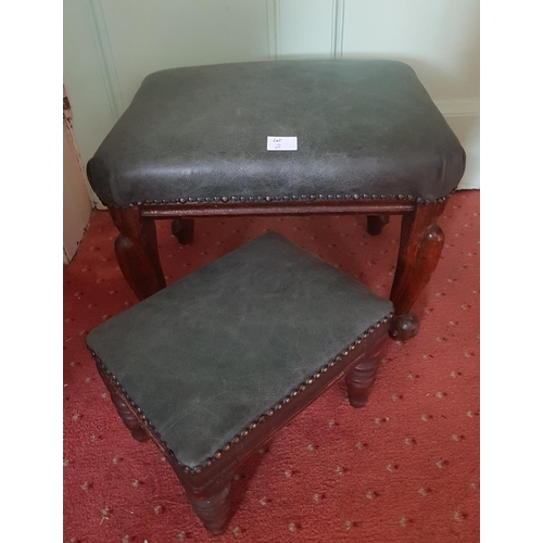 2 - Two 19th Century and later Footstools....