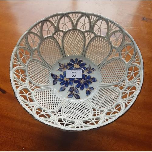 23 - A Porcelain Pierced Tazza....