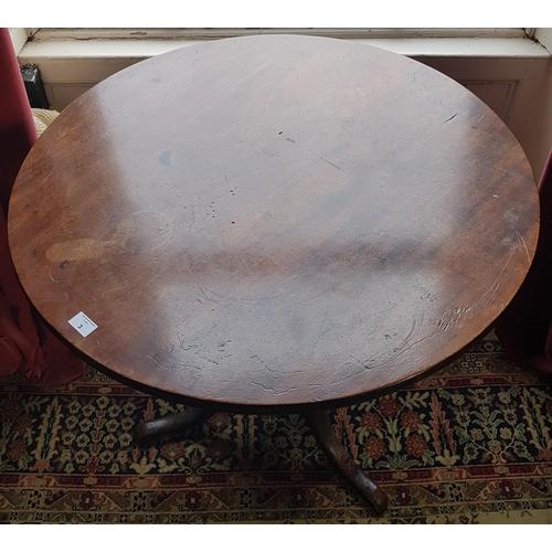 3 - A Georgian Mahogany Pad Foot Supper Table. 59cm diameter....