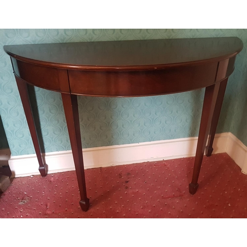 33 - A good pair of Mahogany Half Moon Tables of shallow proportions....