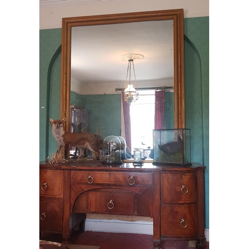 41 - A really good 19th Century Timber Gilt Overmantle Mirror with bamboo effect mouldings. Circa 1880-19...