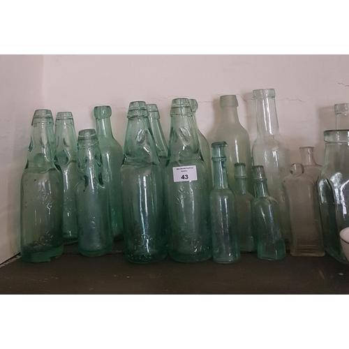 43 - A quantity of Lemonade Bottles from Newbridge etc....