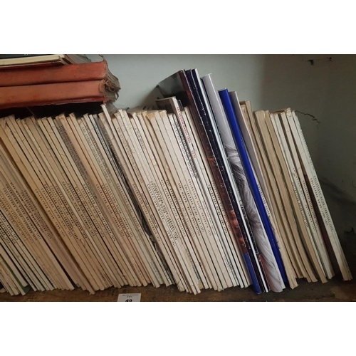 49 - A large quantity of Antique Collectors Magazines on one shelf....