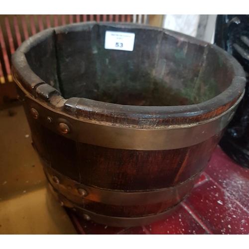 53 - An unusual pair of Brass Bound Buckets....