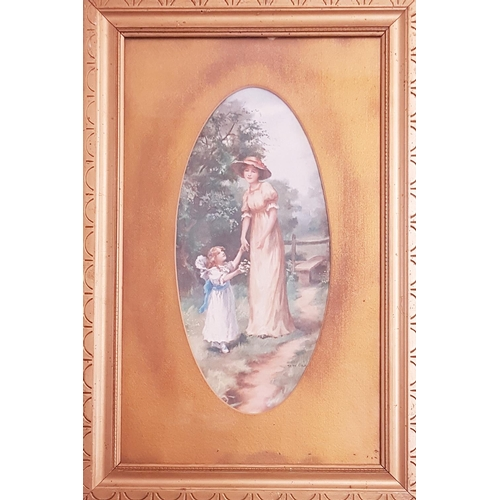 56 - A good pair of late 19th Century - early 20th Century coloured Prints in gilt frames. 24 W x 39.5 L ...