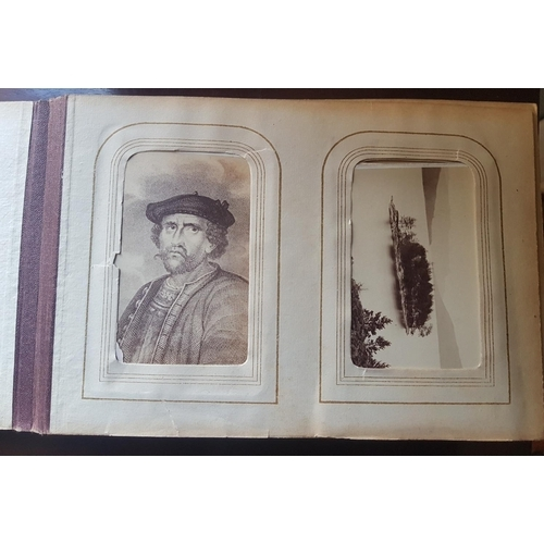 15 - A group of 19th Century Photographs in albums along with some postcards....
