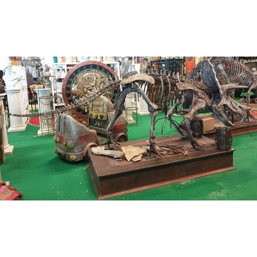 37 - A very large prop of a life size Triceratops. Triceratops is a genus of herbivorous ceratopsid dinos...