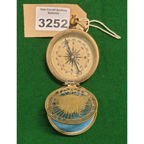 01 - SOME FEATURED LOTS. Lot 3252. SUNNY IS PLAYED BY DANIEL WU. SUNNY: Sunny's Compass with  Azra plaque...