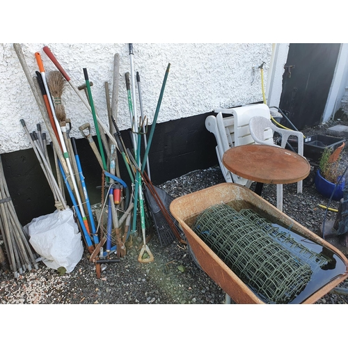 20A - A quantity of Garden Furniture and Tools....