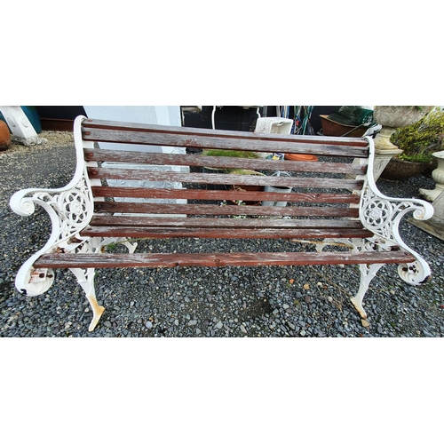 29 - A Metal and timber Bench....