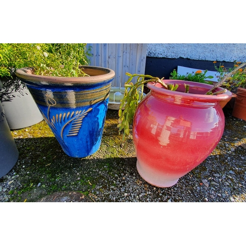 38 - Two large Stoneware Pots....