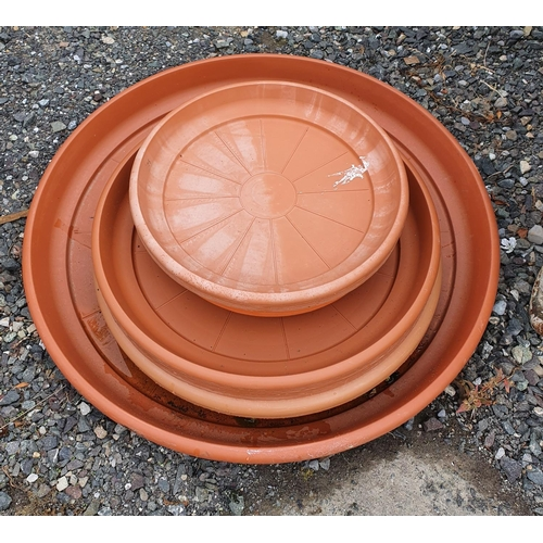 44 - A group of large plant pot Trays....