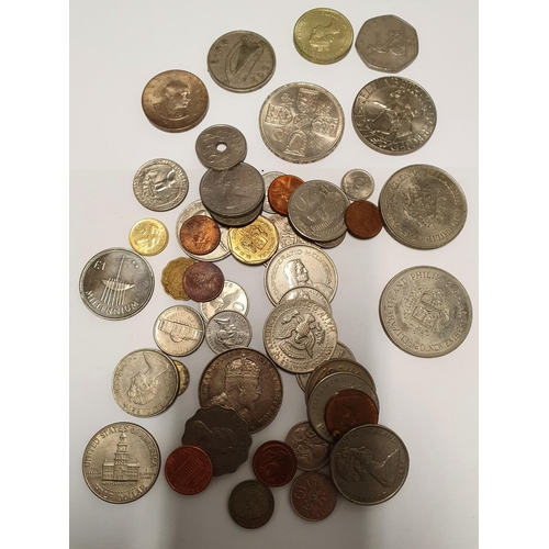 15 - A small quantity of Irish and other Coinage to include some Silver examples along with vintage Jewel...