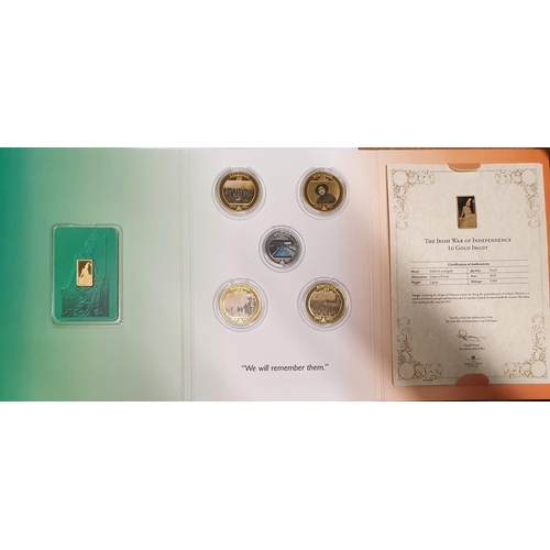 20 - A Dublin Mint commemorative coin collection from The War of Independence 1919 - 1921. With a gold 24...