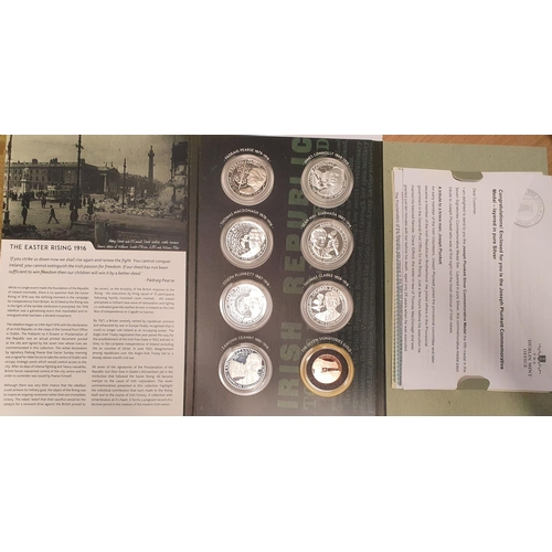 21 - A good set of Dublin Mint commemorative coins for The Seven Signatories of The Proclamation. All Sil...