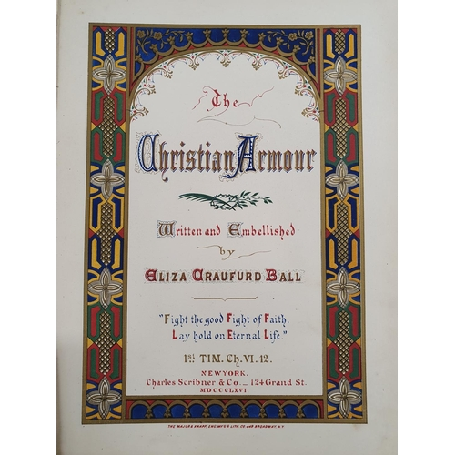 56 - Christian Armor, written and embellished by Eliza Crawford Ball, 1st CH VI 12. Charles Scribnier & C...